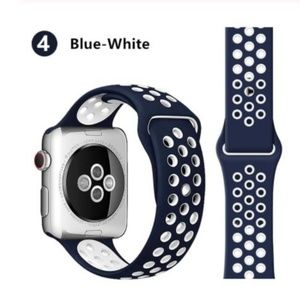 ❤️NEW Blue White Sport Band For Apple Watch